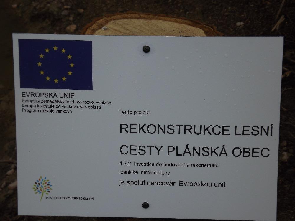 Lesní cesta Plánská obec