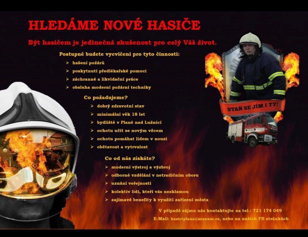Hledáme nové hasiče