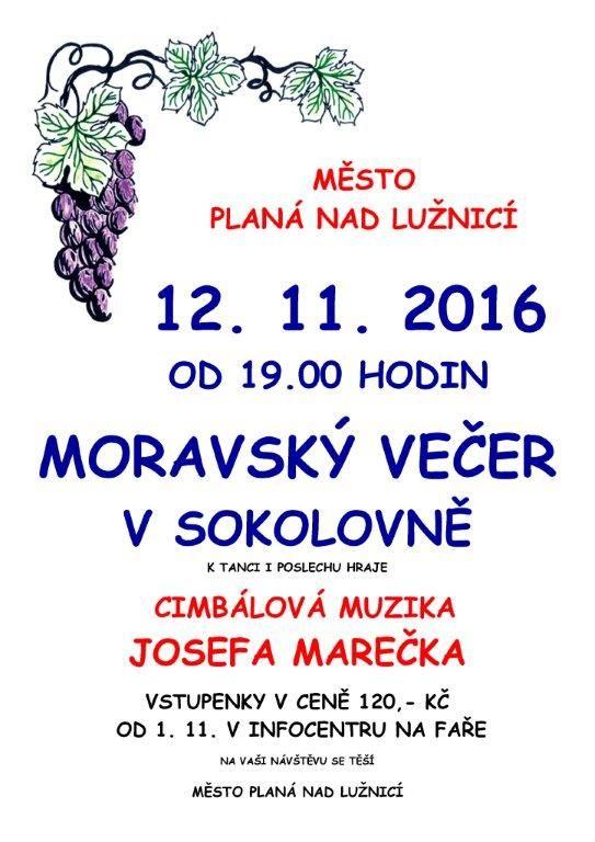 Moravský večer v Sokolovně