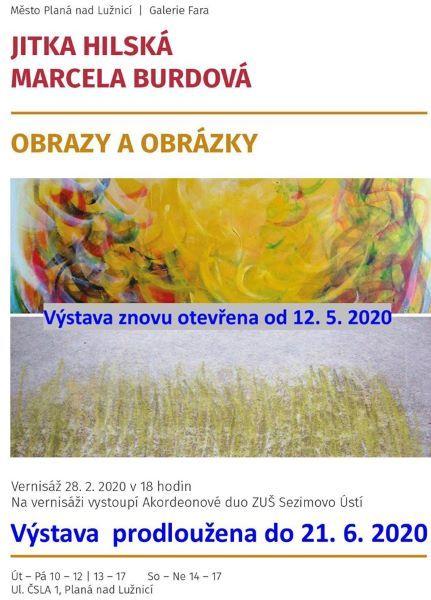 Výstava Obrazy a obrázky - Jitka Hilská a Markéta Burdová