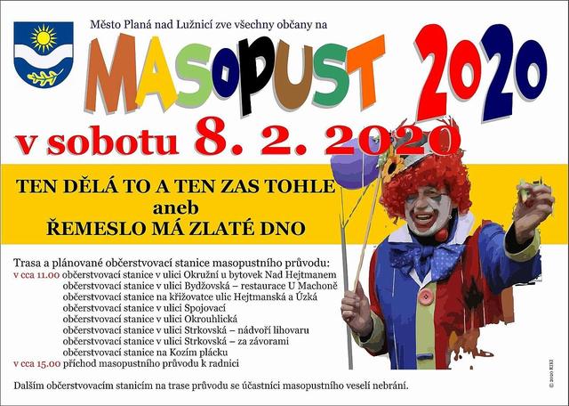 Masopust 8.2.2020