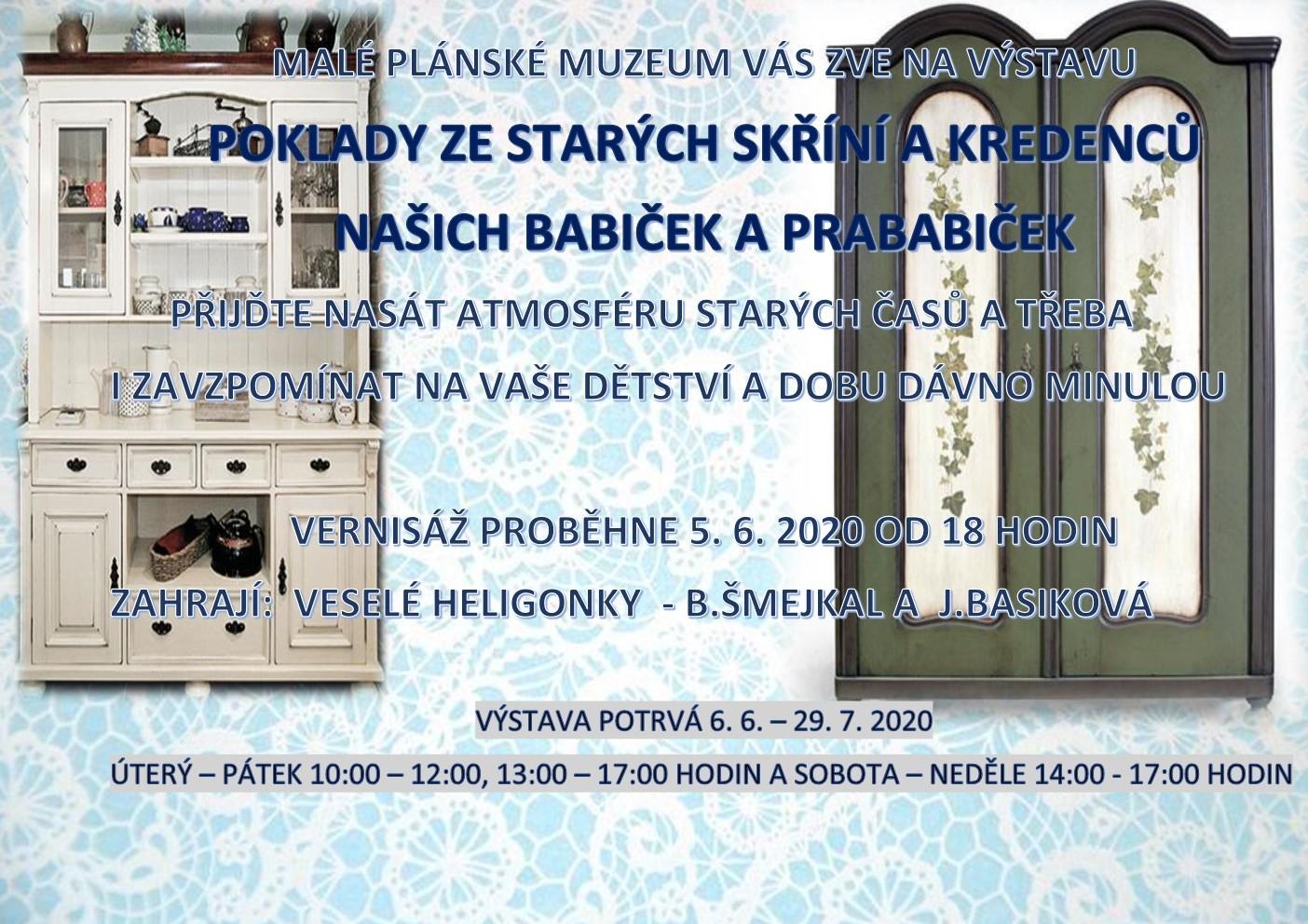 Ze starých skříní a kredenců  - Výstava na Faře 5.6 - 29.7. 2020