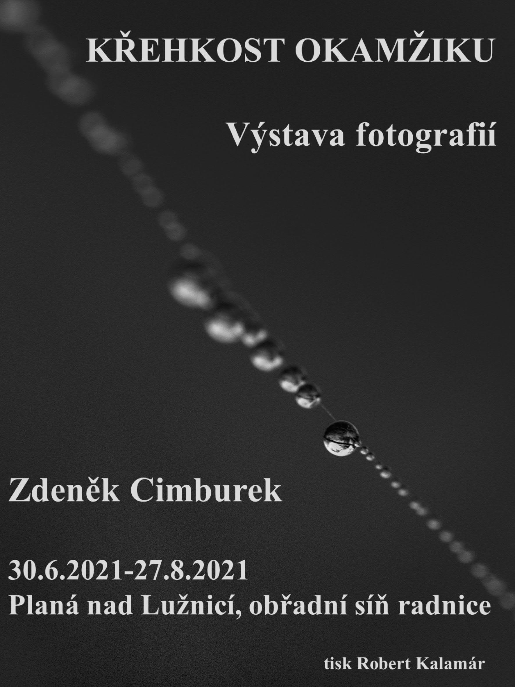 Křehkost okamžiku - výstava fotografií Zdeňka Cimburka