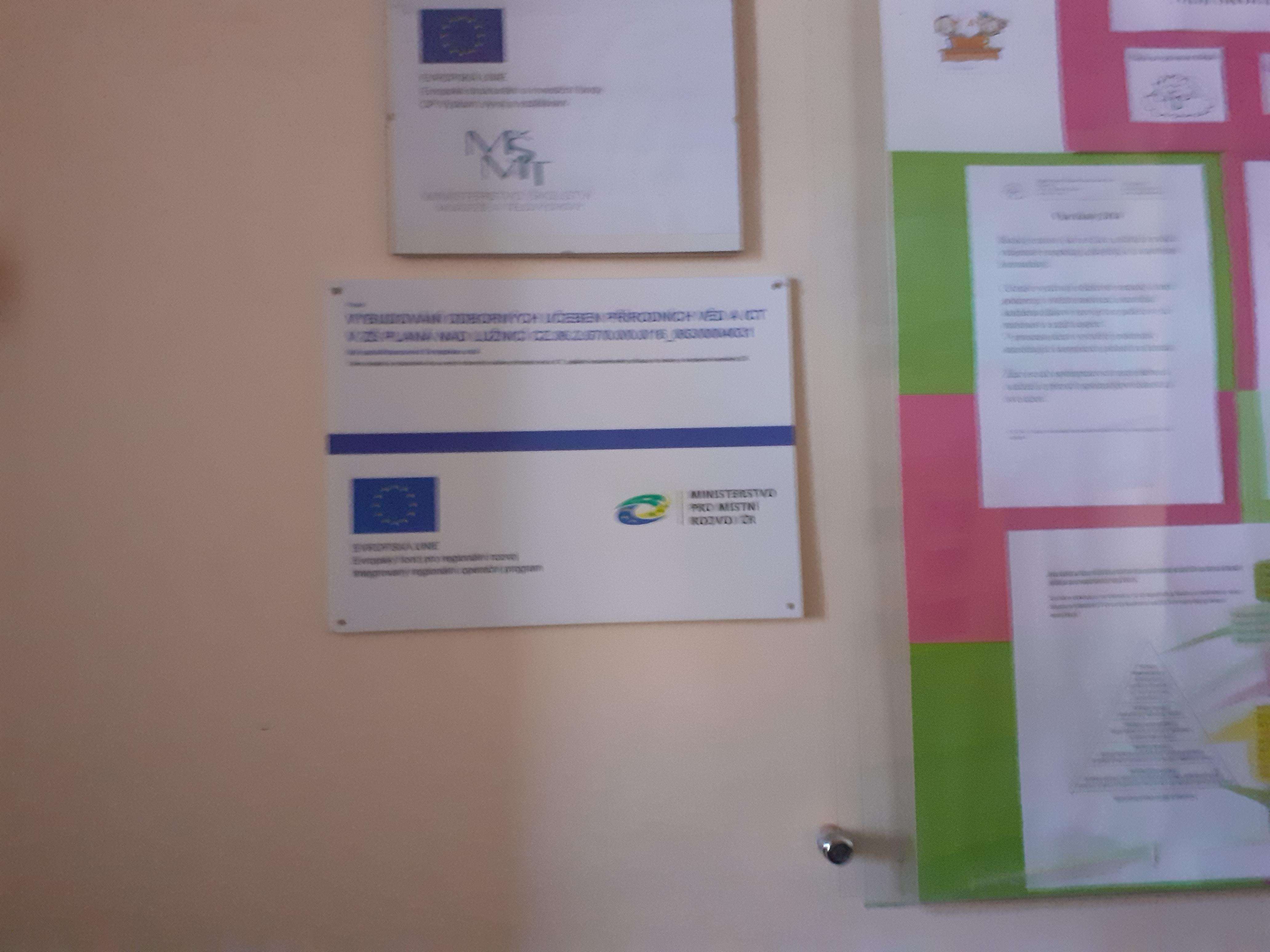 """1/ Projekt """" Vybudování odborných učeben přírodních věd a ICT v ZŠ Planá nad Lužnicí CZ.06.2.67/0.0/0.0/16_063/0004031"""""""
