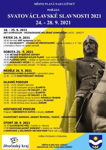 24. - 28. 9. 2021 Svatováclavské slavnosti
