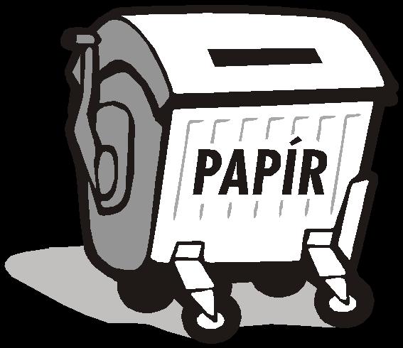 kontejner na papír